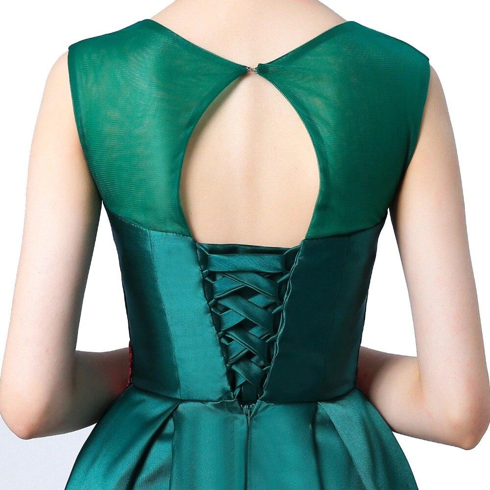 Suosikki nieuwe prom dress lange vestidos de festa a-lijn bloem cap - Jurken voor bijzondere gelegenheden - Foto 3