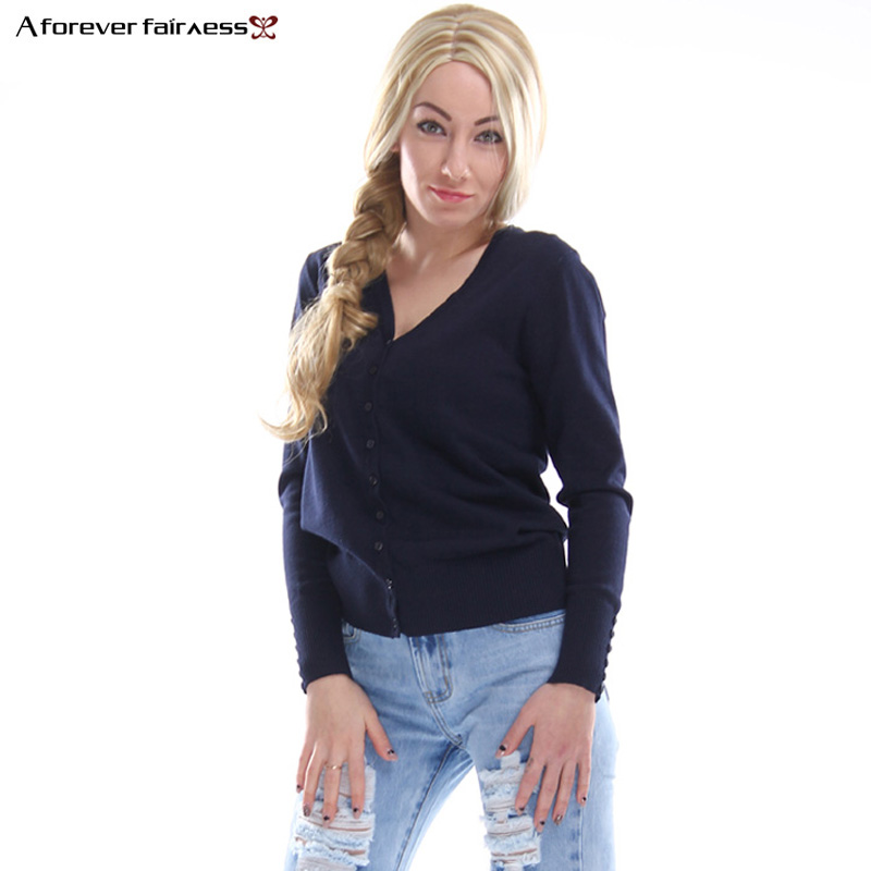A Forever 2018 Autumn Winter Women Tops Brief Knitted Sweaters And Pullovers Loose Knitwear Casual Sweater Cardigan AFF816
