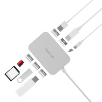 dodocool 7 in 1 USB 3.0 HUB Type C 4K Video HD Output SD/TF Card Reader usb hub 3.0 for MacBook samsung galaxy s9 huawei p20 pro