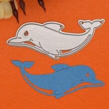 Dolphin Metal Cutting Dies Stencils For DIY Scrapbooking Album Scrapbooking Decorative Embossing Stencil Animal Craft Die scrapbooking diy 50