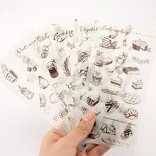 6pcs/lot Taste of happiness children Paper diy Decorative Sticker Diary Album Label Scrapbooking Stationery