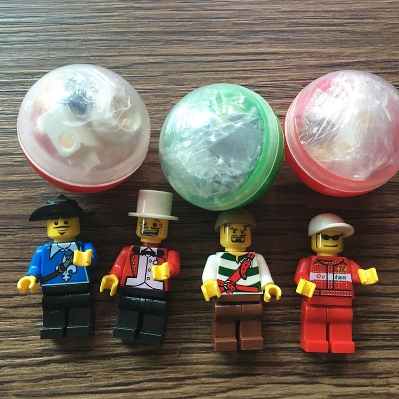 100pcs lot 38mm Plastic Capsule Occupation Figurines Plastic Capsule Toys for Vending Machine Blocks Accessory Kids