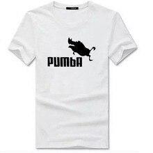 2017 funny tee cute t shirts homme Pumba men women cotton cool tshirt lovely kawaii summer jersey costume t-shirt