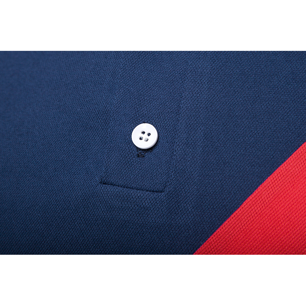 Summer tide men polo shirt stitching turn down collar cotton polyester blended polo shirt fashion slim tops male clothing in Polo from Men 39 s Clothing
