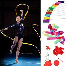 Twirling гимнастический streamer gym dance стик художественной род искусство лента цвета