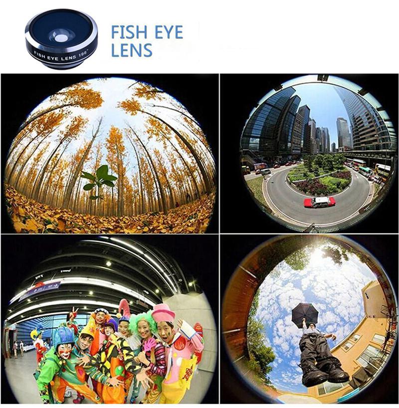 APEXEL 4 in 1 8X Telephoto Telescope Lens+Macro Lens+Wide Angle Lens+Fisheye Lens External Camera Lens For IOS Android Phone 5