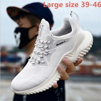 Large size 39 46 2018 Summer Men Sneakers Summer Trainers Boots Breathable Men Casual shoes Travel Shoes S 1