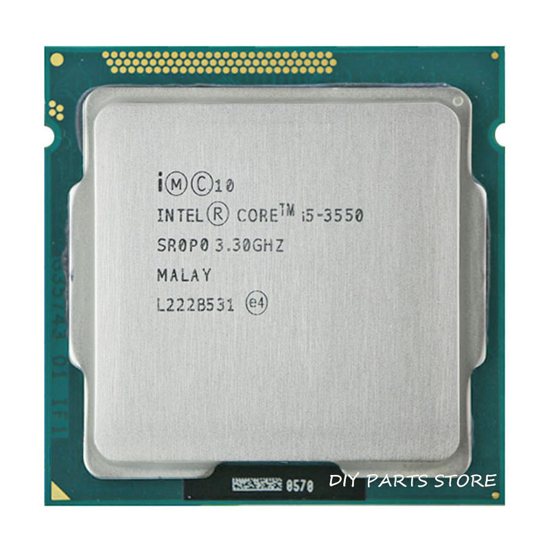 Intel Core I5 3550 I5 -3550  3.3GHz/ 6MB Socket LGA 1155 CPU Processor  HD 2500 Supported Memory: DDR3-1066, DDR3-1333