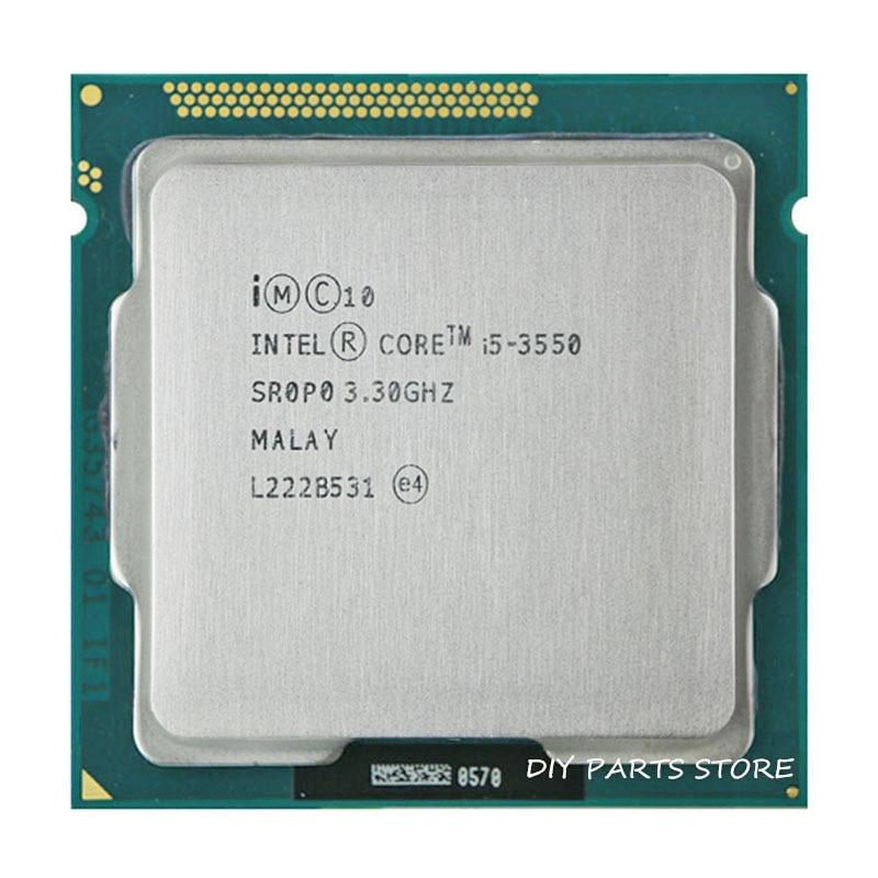 Intel Core i5 3550 i5 -3550 3.3GHz / 6MB Socket LGA 1155 CPU პროცესორი HD 2500 მხარდაჭერილი მეხსიერება: DDR3-1066, DDR3-1333