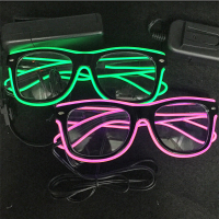 6pcs Lot LED Sunglasses Flashing Glow Glasses Party Rave Glasses
