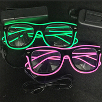 2018 Real New Arrival Costume Leds Led Clothes 6pcs/lot Led Sunglasses Flashing Glow Glasses Party Rave