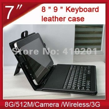 Free shipping 7 inch Mini USB Wired Keyboard for tablet pc lapton EPAD IPAD touchpad with Stand Touch Pen