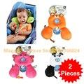 2 Pcs, Benbat Amigos Viagens Suporte Encosto De Cabeça Do Bebê 0-12 meses 1-4 anos Dos Desenhos Animados Projeto Animal do bebê/criança U Travesseiro de pescoço Travesseiros