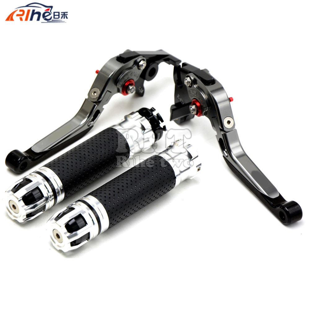 CNC Handlebar Motorcycle Handle Bar Grips Adjustable Clutch Brake Levers For YAMAHA FZ-09 MT-09 SR (Not FJ-09) 2014 2015 MT09 cnc billet adjustable long folding brake clutch levers for yamaha fz6 fazer 04 10 fz8 2011 14 2012 2013 mt 07 mt 09 sr fz9 2014