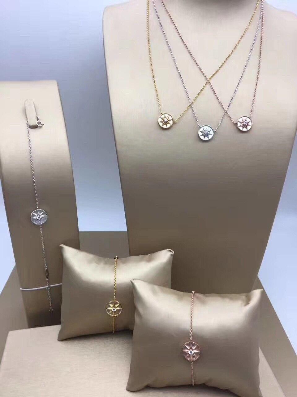 Mode célèbre marque rose des vents collier bracelet ensemble de bijoux filles coquille agate chanceux étoile entreprises pendentif bracelet ensemble