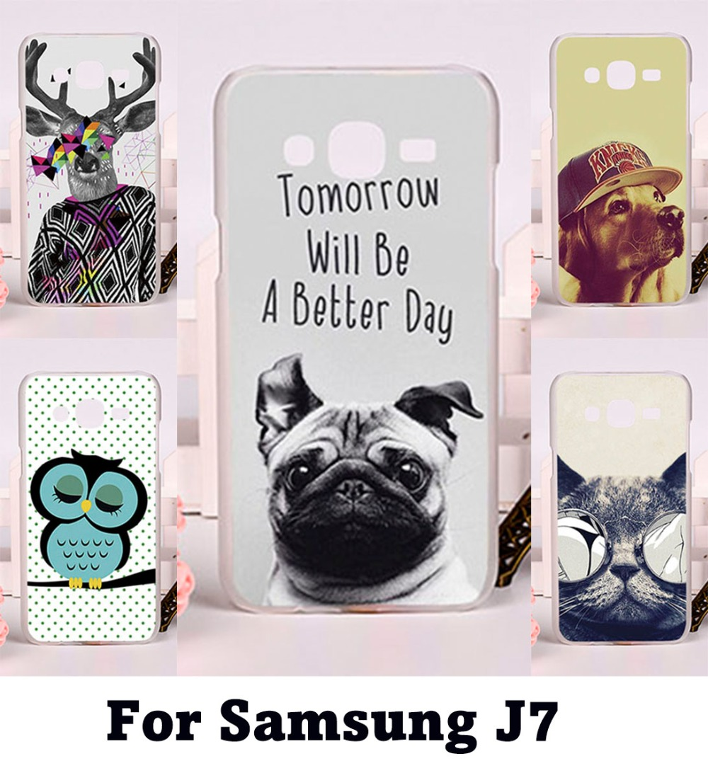 DIY Printing Hard Plastic and Soft TPU Phone Covers For Samsung Galaxy J7 2015 J700 Cases
