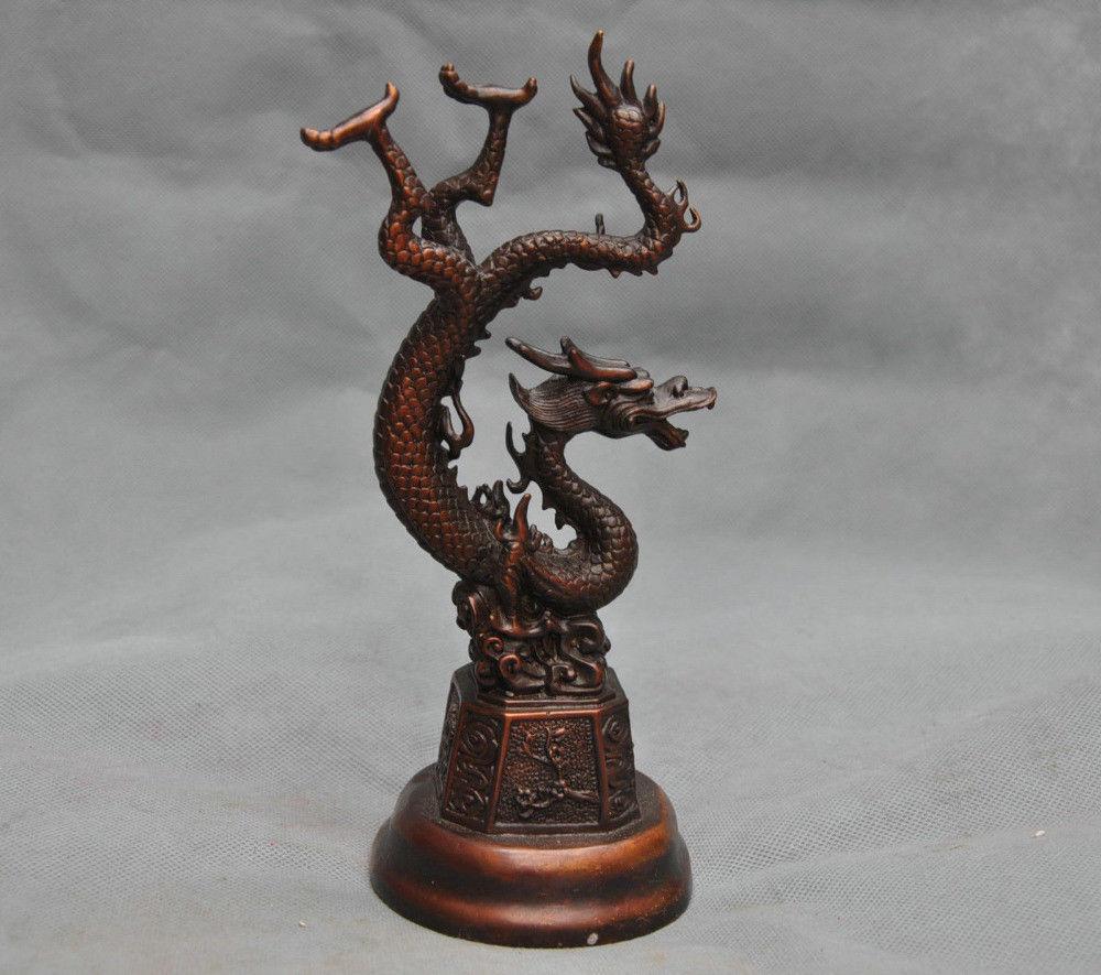 China Fengshui Chinese Zodiac Dragon Bronze StatueChina Fengshui Chinese Zodiac Dragon Bronze Statue