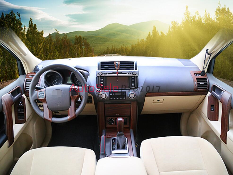 Texture de style automobile des pêchers texture de peac intérieur garniture de couverture Chrome pour Toyota Prado FJ150 FJ 150 2010-2014 2015 - 4