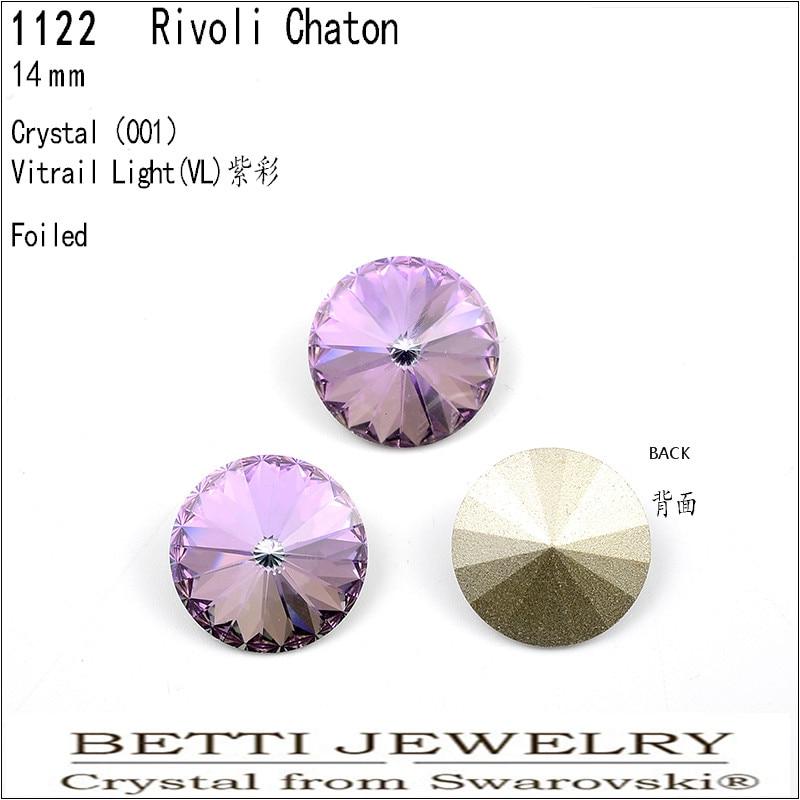 Ms Betti 1 Piece Original Swarovski Rivoli Crystal 14mm Round Stone For Jewelry Gifts DIY Making Accessories