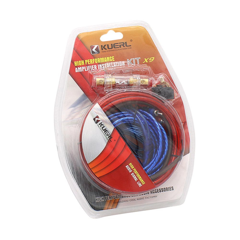 Car Power Amplifier Installation Kit 8 Gauge Automobiles Speaker Woofer  Subwoofer Cables Audio Wire Wiring Line with Fuse Suits-in Cables, ...