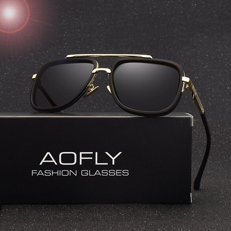 AOFLY Neue Mode Männer Polarisierte Sonnenbrille Männliche Marke Design Polaroid Linse Luxus Sonnenbrille Hohe Qualität Oculos De Sol AF8035