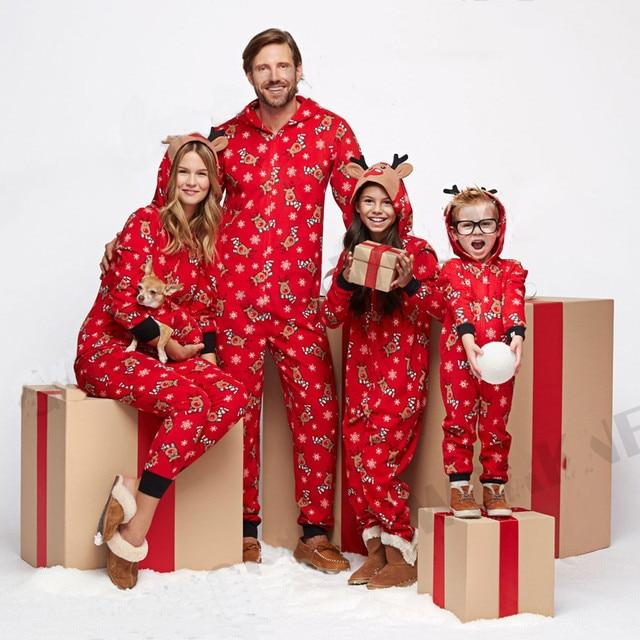 Conjunto De Pijamas Navidenos A Juego Familia Navidad Mujeres Hombre