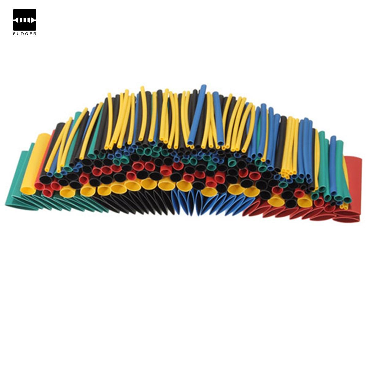 280Pcs 8 Sizes Multi Color 2:1 Heat Shrink Tubing Tube Sleeving Wrap Kit RSFR-H Heatshrink Tubing Yellow Blue Black Green Red