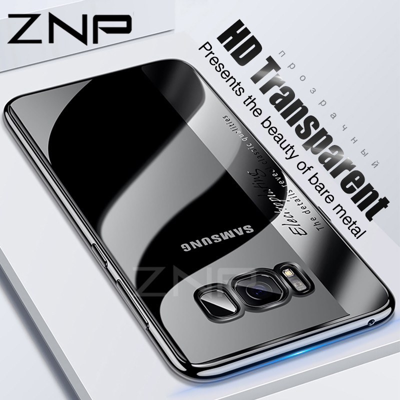 ZNP Luxury Plating Soft TPU Phone Case For Samsung Galaxy S8 Plus Note 8 Full Cover Case For Samsung S8 Note 8 Protector Shell