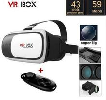 2017 New high quality VR BOX 3D Virtual Reality Glasses Google Cardboard 3D Movie Game for  iPhone Android 4.0″-6.0″ Smart phone
