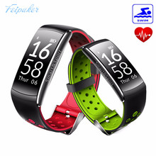 Feipuker Водонепроницаемый группы сердечного ритма монитор браслет наручные часы smart futural цифровой Прямая доставка PK CK11