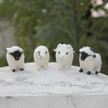 Handmade Mini Fur Toy Sheep Small Fur Covered Plastic Toy Sheep For Sale
