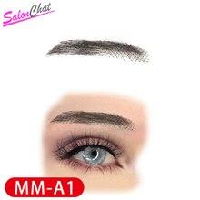 SalonChat Hand Gebunden Falsche Spitze Augenbrauen 100% Menschliches Haar Augenbrauen menschenhaar invisible Handgemachte Gefälschte Augenbrauen Für Frauen/Mann