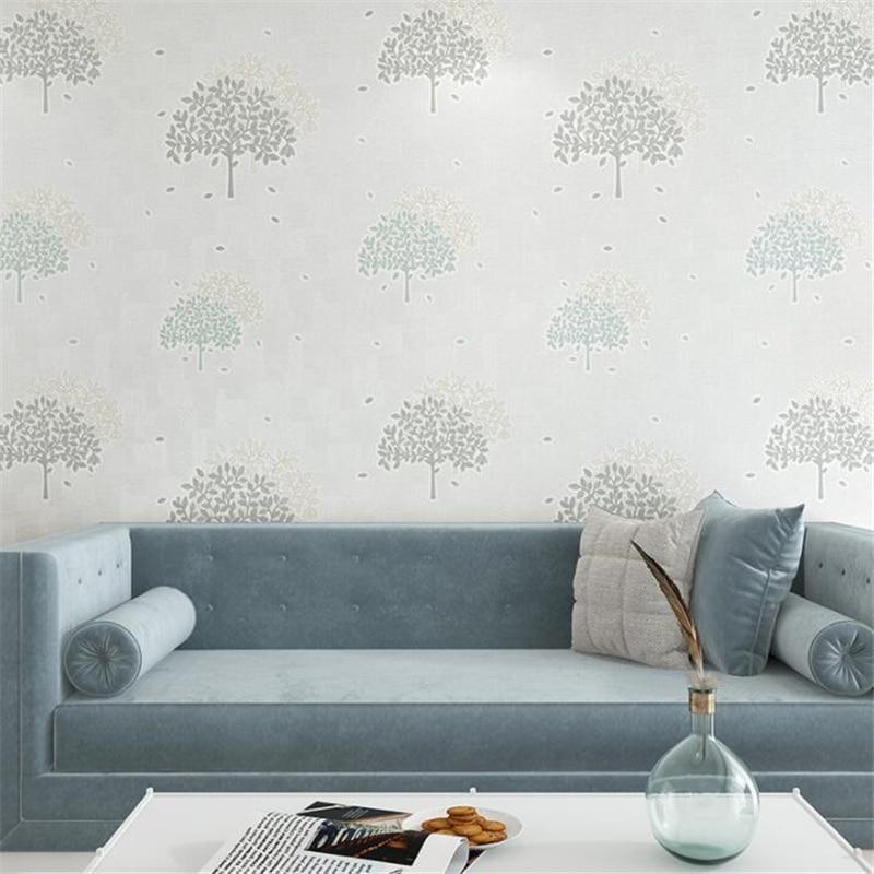 Beibehang Trees Leaves Wallpaper Bedroom Living Room desktop Pink Wallpaper Modern Room Background Decorative 3d wallpaper