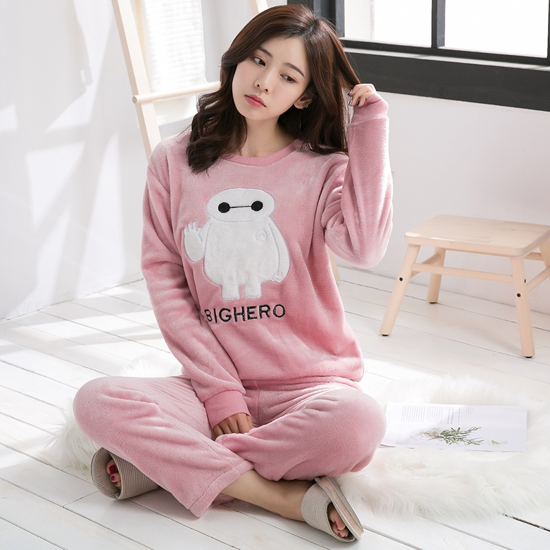 e2a11da4cb99 Thick-Warm-Flannel-Pajama-Sets-for-Women-2018-Autumn-Winter-Long-Sleeve -Coral-Velvet-Pyjama-Girl.jpg
