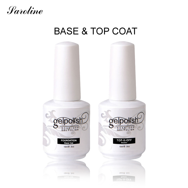 Saroline Brand Base Coat Top Coat Set For Nails With Uv