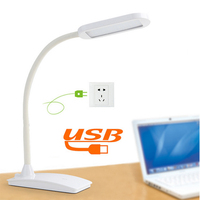 3 Modes Touch Table Lamp Usb Led Light Lamp Flexible Power Bank Led Energy Saving Lamp