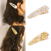 Hot Women Girls Fashion alloy gold /silver color Water Drop Shape Hairpins Female Hair Styling Accessories F029