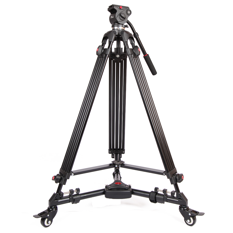 Jie Yang jy0606 Aluminium Tripod for Professional Camcorder Video Camera DSLR Tripod Stand
