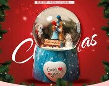 Free Shipping Creative music box crystal ball snowflake
