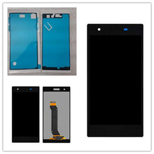 цены на For Sony Xperia Z1S L39T C6916 LCD display touch screen with digitizer assembly + tools + adhesive+ free shipping  в интернет-магазинах