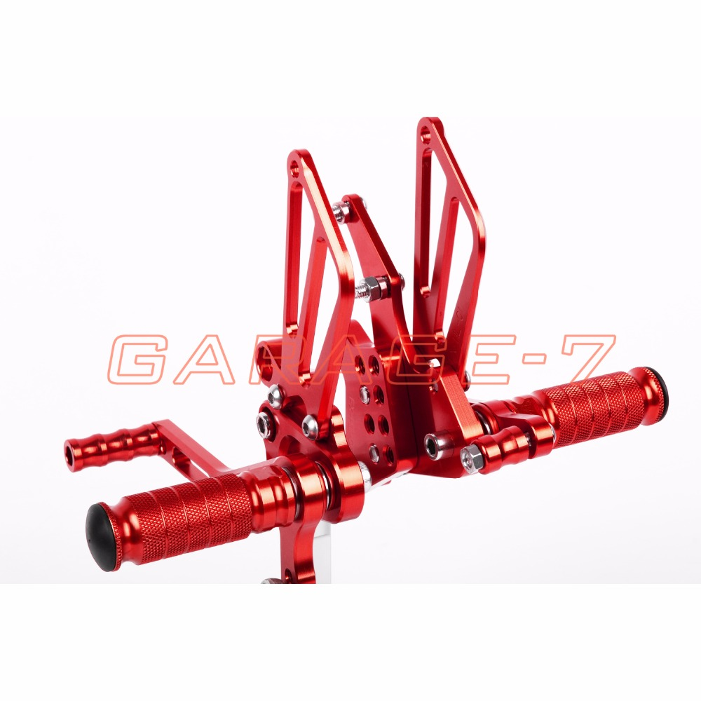 Motorcycle Parts Rearsets Foot Pegs Rear Set For Benelli BN600 2013 Red Color High-quality CNC