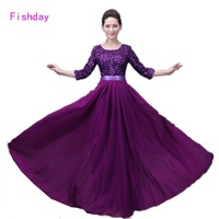 2017 Purple Royal Blue Sequined Red Evening Gowns Dresses Long Imported Party Junior Mother of the Bride With Sleeve Cape B45