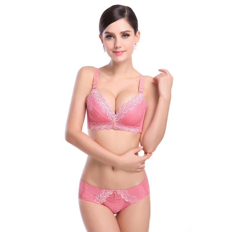Weibliche Unterwäsche kleine brust Push Up Bh tiefem vs 5 cm dicke ...