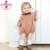 2016 nuevas muchachas del bebé vestido de punto de algodón de punto de ganchillo orange/azul mameluco niños niñas otoño invierno mono mameluco sólido ropa