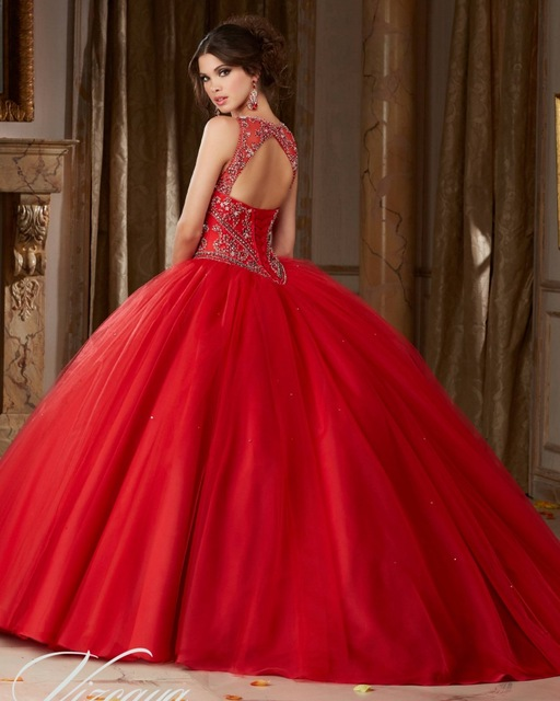d3f091e50729 2017 Vestido 15 Anos Debutante Gowns Plus Size Cinderella Puffy Quinceanera  Dresses Red Cheap Quinceanera Gowns Sweet 16 Dresses