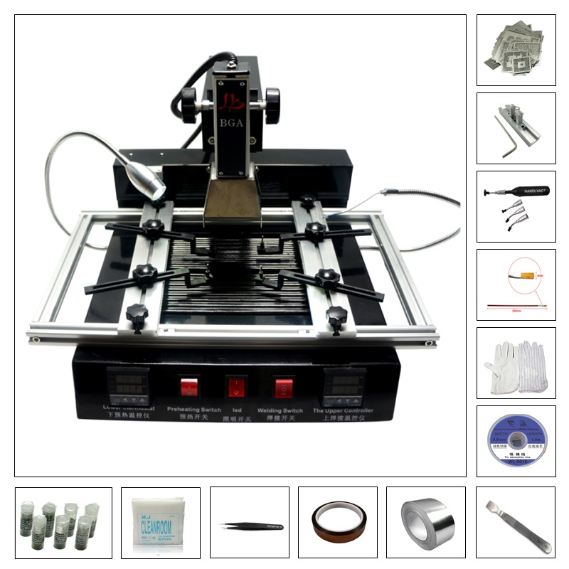 BGA soldering kit M770 rework station with <font><b>810</b></font> pcs directly heating and free BGA tools accessories image