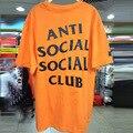 2017 АНТИ СОЦИАЛЬНЫЕ SOCIAL CLUB Высокое Качество Марка Одежды Футболки Джастин бибер Хип-Хоп Orange T Shirt Мужчины Женщины Kanye West Tee