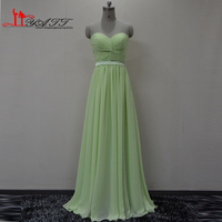 Real Picture 2016 Mint Green Long Chiffon Sweetheart Simple Cheap Long Elegant Summer High Quality Bridesmaid