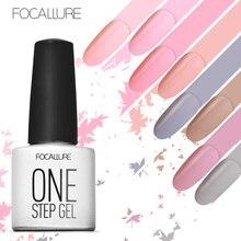 FOCALLURE One Step Nail Polish Gel 3 in 1 UV LED Soak off Nail Gel Art Varnish No Need Top and Base