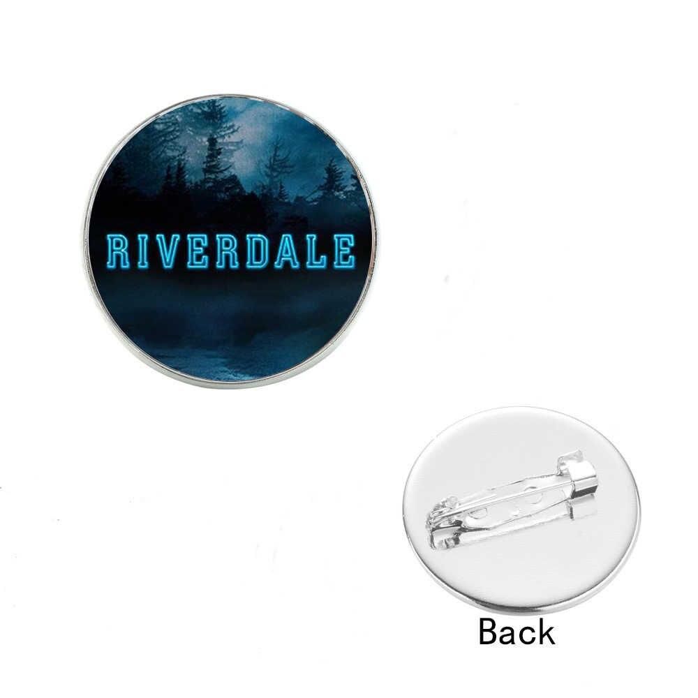 SONGDA Riverdale Stile Personalizzato di Vetro Cabochon Spille In Metallo Gioielli Fatti A Mano Spilli Donne Gli Uomini Regali Per Il Sacchetto Vestiti Decorare